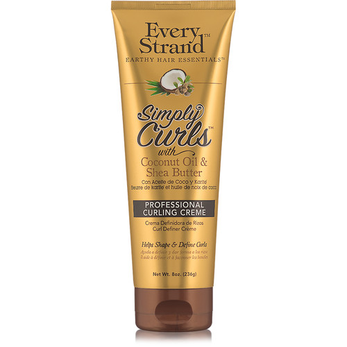 Every Strand Simply Curls Coconut Oil & Shea Butter Professional Curling Cream (8 oz.)