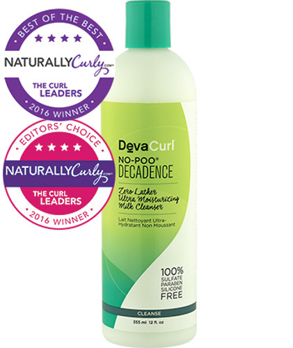 DevaCurl No-Poo Decadence Zero Lather Ultra Moisturizing Milk Cleanser (12 oz.)