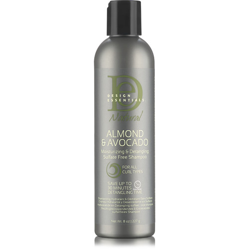 Design Essentials Natural Almond & Avocado Moisturizing & Detangling Sulfate Free Shampoo (8 oz.)
