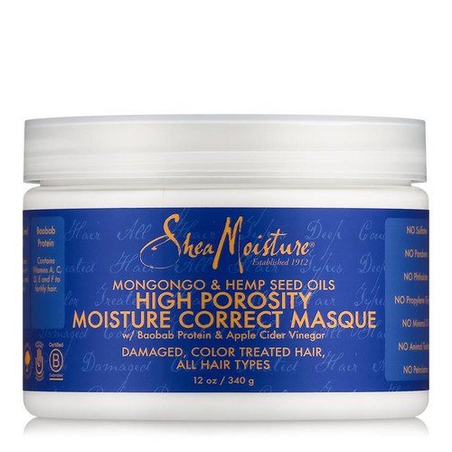 SheaMoisture Mongongo & Hemp Seed Oils High Porosity Moisture-Seal Masque (12 oz.)