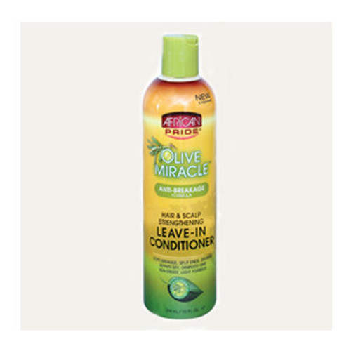 African Pride Olive Miracle Hair & Scalp Strengthening Leave-in Conditioner (12 oz.)