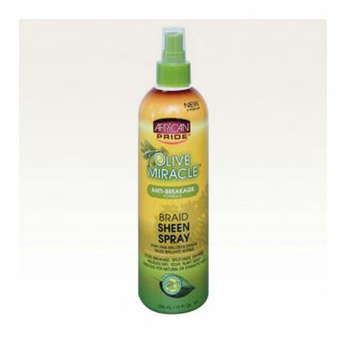 African Pride Olive Miracle Braid Sheen Spray (12 oz.)
