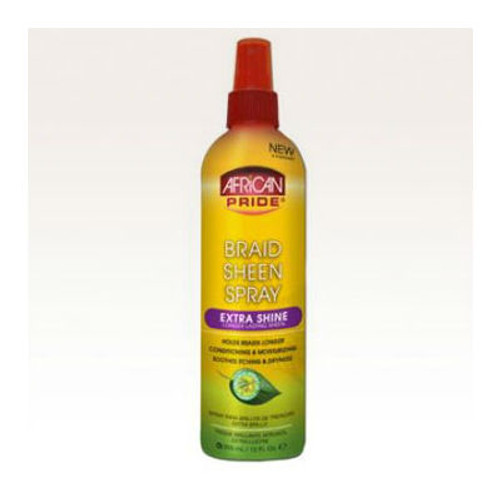 African Pride Braid Sheen Spray - Extra Shine (12 oz.)