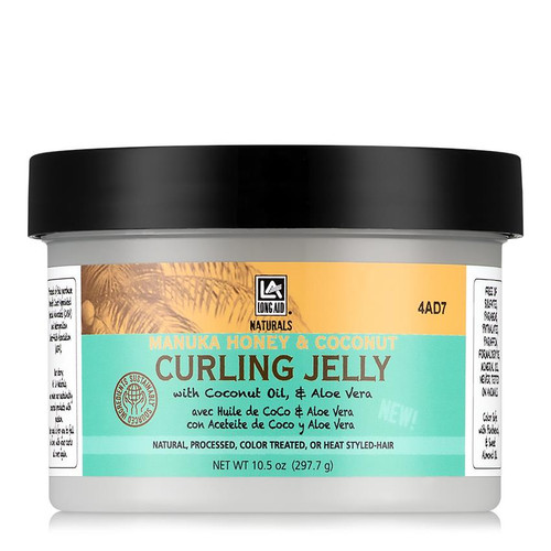 Long Aid Naturals Manuka Honey & Coconut Curling Jelly (10.5 oz.)