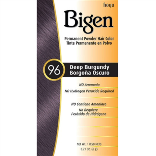 Bigen #96 Deep Burgundy Permanent Powder Hair Color (0.21 oz.)