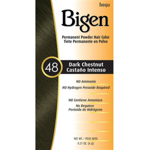 Bigen #48 Dark Chestnut Permanent Powder Hair Color (0.21 oz.)