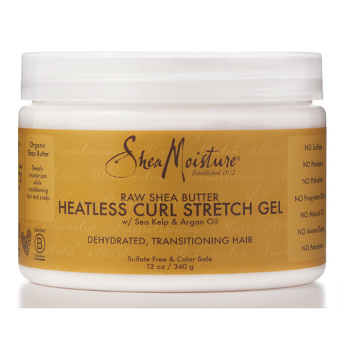 Review: SheaMoisture Raw Shea Butter Heatless Curl Stretch Gel (12 oz.)