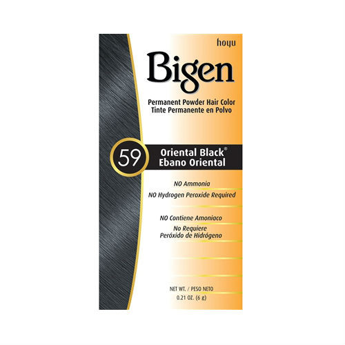 Bigen #59 Oriental Black Permanent Powder Hair Color (0.21 oz.)