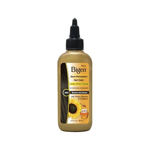 Bigen AB3 Medium Ash Brown Semi-Perm Hair Color (3 oz.)