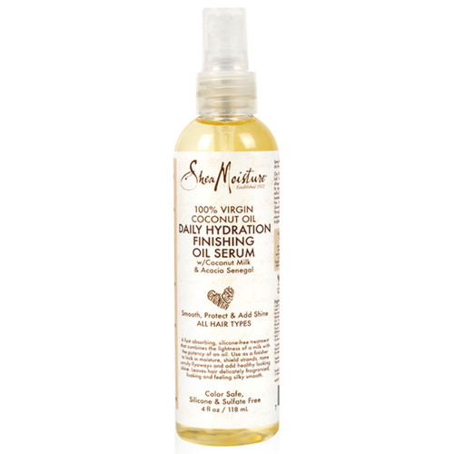 SheaMoisture 100% Virgin Coconut Oil Daily Hydration Finishing Oil Serum (4 oz.)