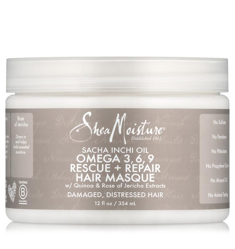 SheaMoisture Sacha Inchi Oil Omega-3-6-9 Rescue & Repair Hair Masque (12 oz.)