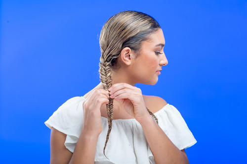 How-To: Fishtail Braids with Coconut Restore