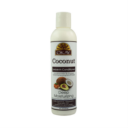 okay pure naturals deep moisturizing coconut leave in conditioner