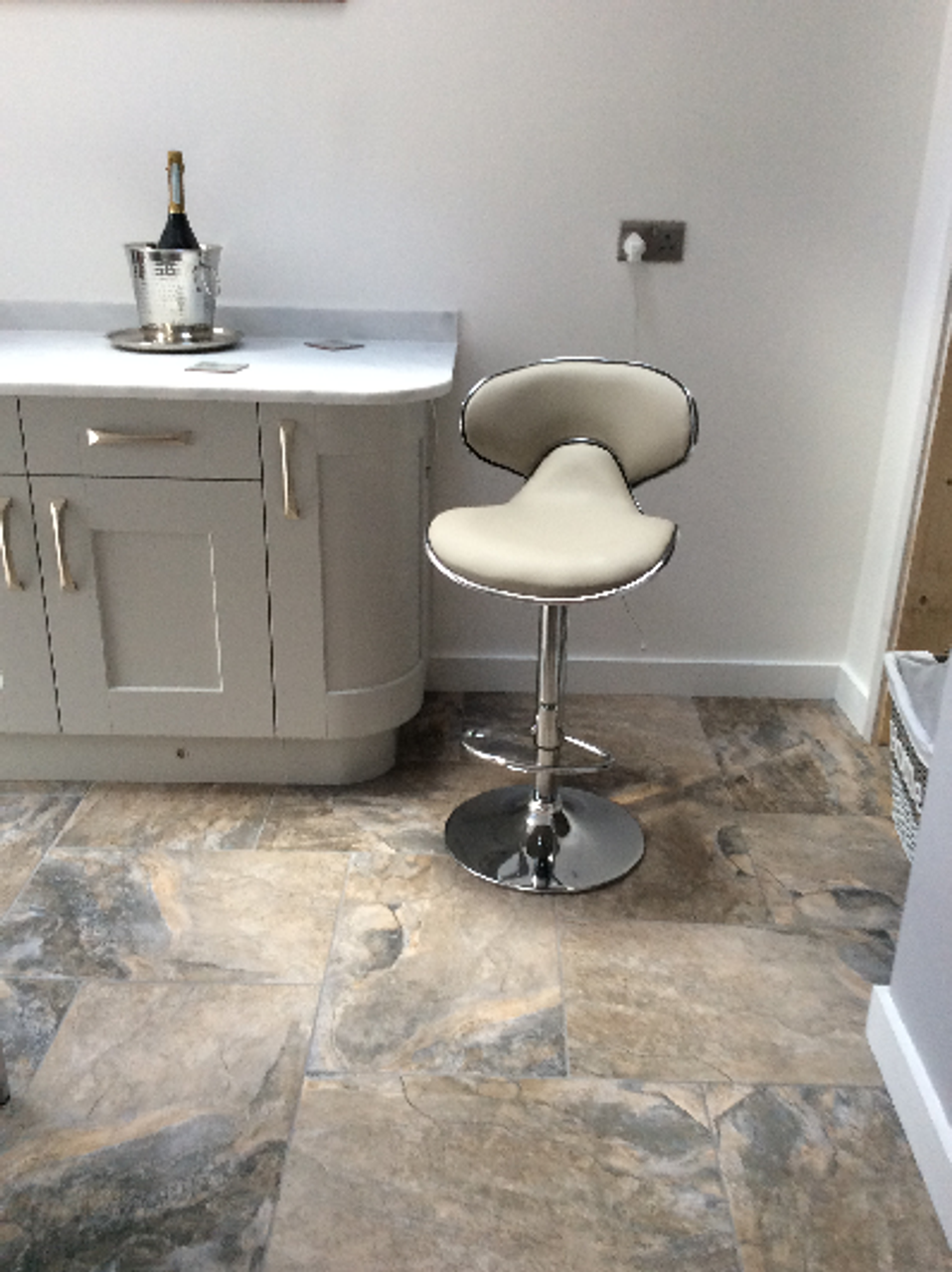 Carcaso Grey Kitchen Bar Stool Uniquely Designed