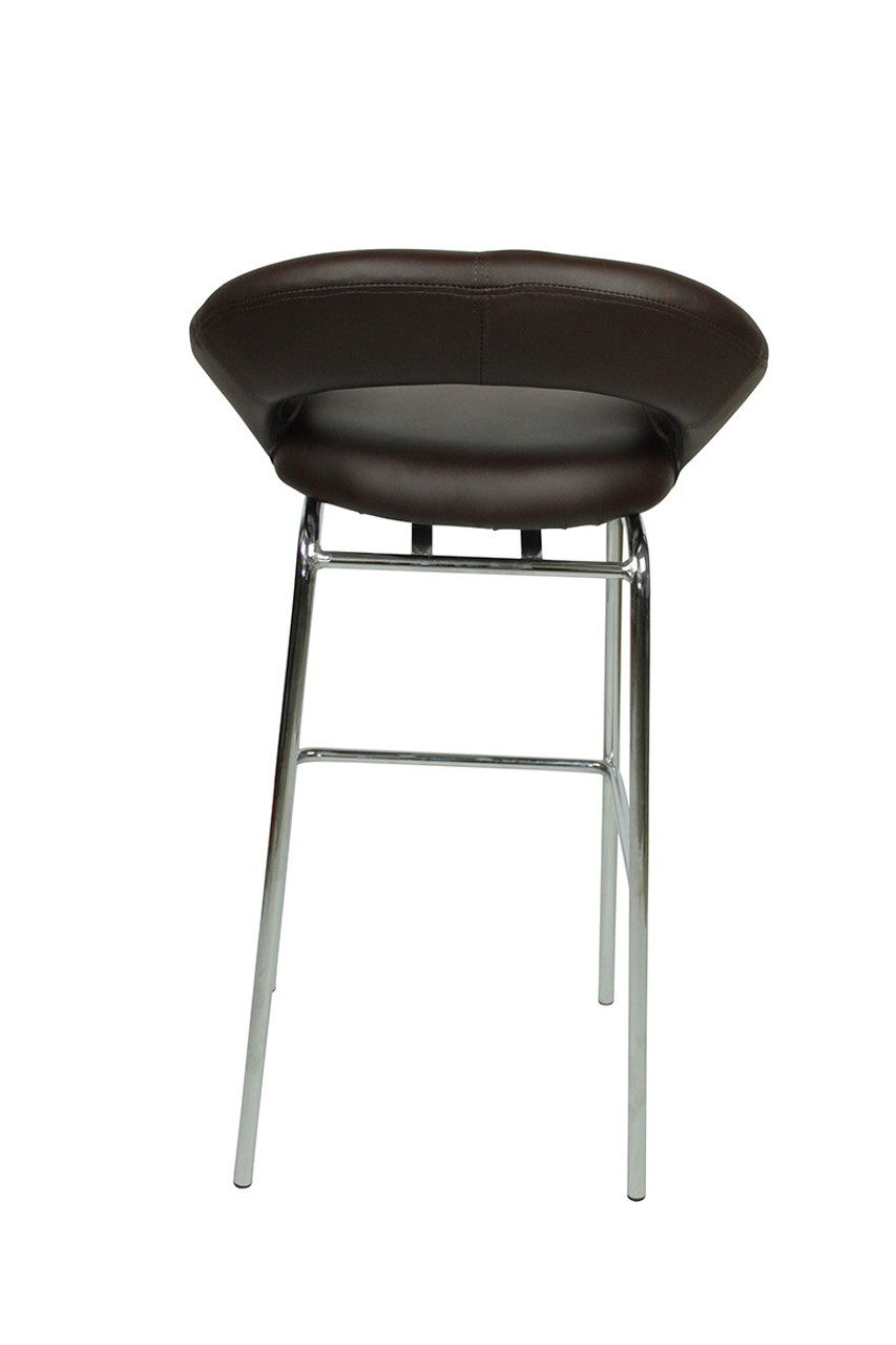 Sorrento Kitchen Fixed Height Bar Stools Brown Simply