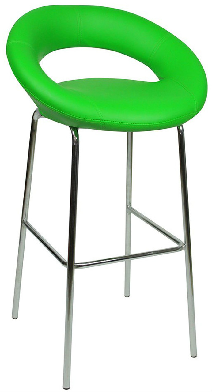 Sorrento Kitchen Fixed Height Bar Stools Green Simply