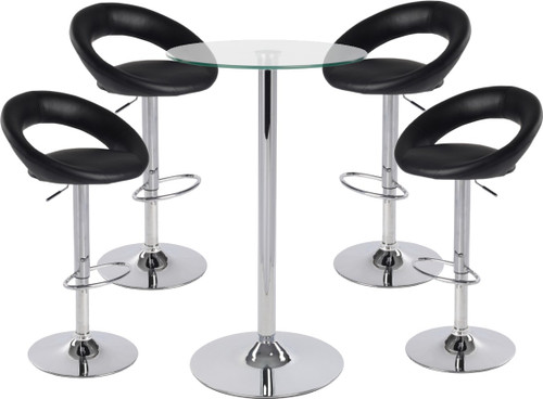 Sorrento Leather Bar Stool and Como Table Package