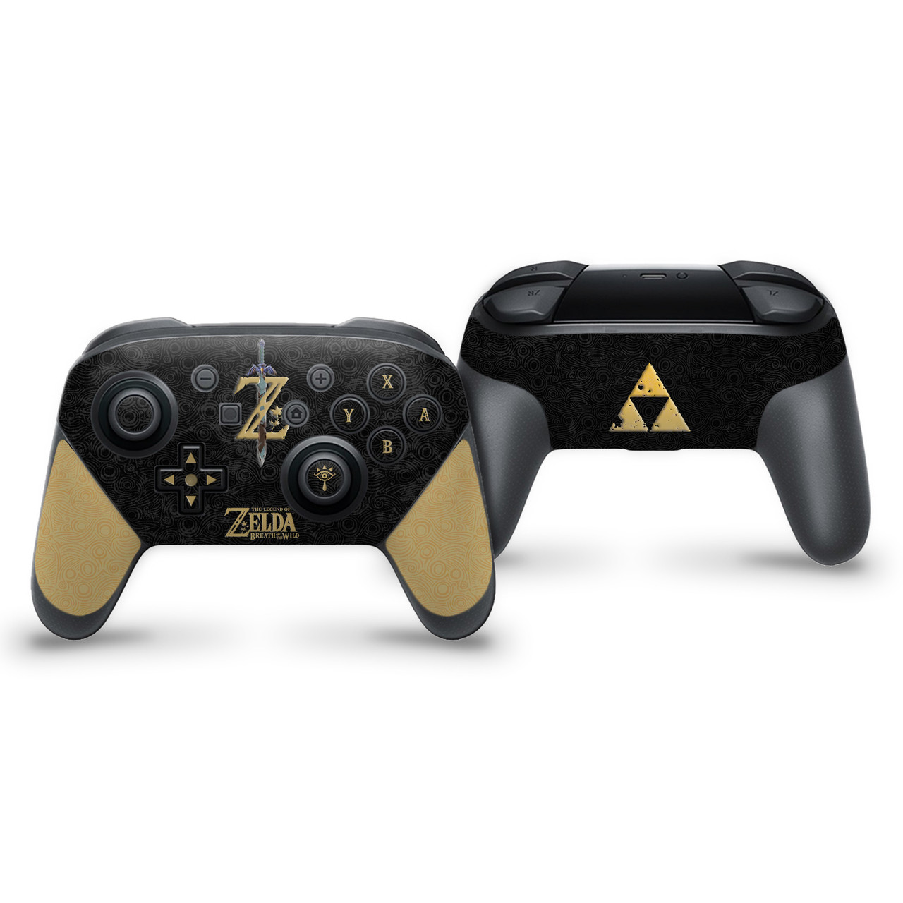 The Legend Of Zelda Botw Black Switch Pro Controller Skin