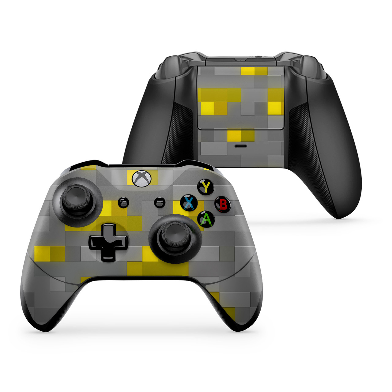 Pixel Gold Block Xbox One X Controller Minecraft Art