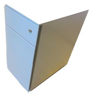Small Grey 3 Drawer Metal Pedestal (3BB-CAF-714)
