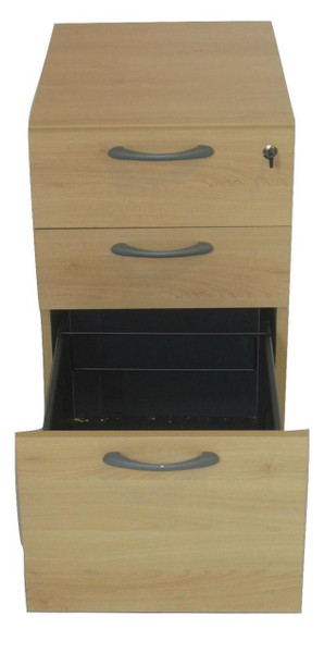 Beech Three Drawer Pedestal (D8E-5BB-C95)