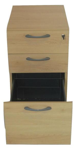 Beech Three Drawer Pedestal (D8E-5BB-C95)