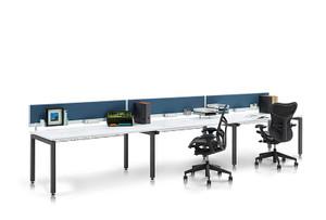 Herman Miller Grey Straight Desk 1800mm x 800mm (B4E-3D6-FB4)