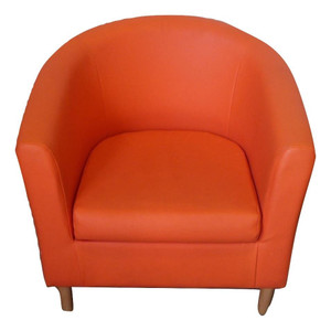 Orange Faux Leather Tub Chair (18A-950-580)