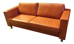 Red Leatherette 4 Seater Sofa (D32-565-25E)