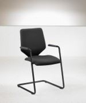Sven Christiansen Black Meeting Chair (5B0-DAA-528)