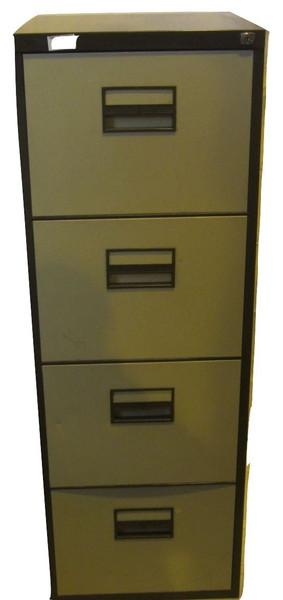 Generic Brown & Cream 4 Drawer Filing Cabinet (D5D-BEE-D87)