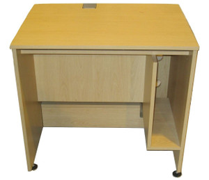 Beech Straight Desk with Retracting TFT Stand (9E1-5B5-A7A)