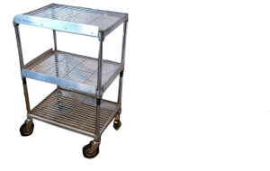 Three Tier Wire Food Trolley (796-949-51C)