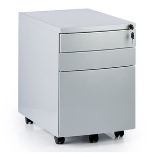 Grey Metal 3 Drawer Pedestal (DE1-459-D89)
