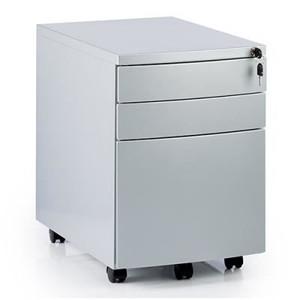 Grey Metal 3 Drawer Pedestal (DE1-459-D89)