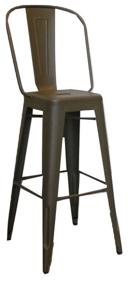Tolix Green Bistro Metal Stool (7A8-1C3-581)