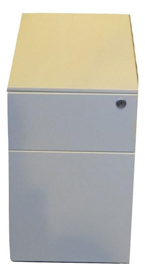 Herman Miller White Metal 2 Drawer Pedestal (8D6-B6B-F57)