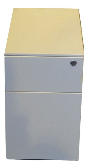 Herman Miller White Slimline  Metal 2 Drawer Pedestal (653-088-A35)