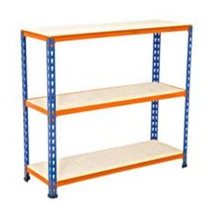 Orange and Blue 3 Shelf Racking (SET B)  (DE7-DB4-78B)