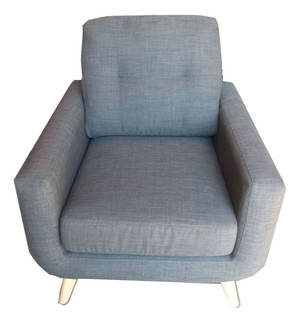 John Lewis Barbican 2 Charcoal Grey Fabric Armchair (2CB-F3A-A6C)