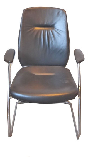 Connection Black Faux Leather Meeting Chair (BD4-7D3-34B)