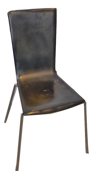 Black Leather Chair (657-90E-511)
