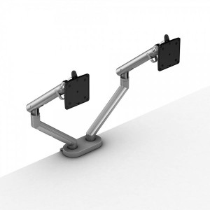 CBS Flo Dual Monitor Arm White (3D2-522-D7D)