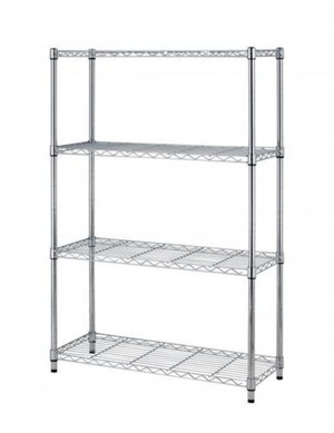 Chrome Wire Shelving Unit (E3D-4AD-34A)