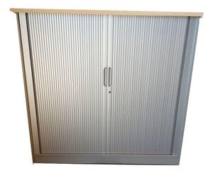 Generic 2 Shelf Wooden Tambour Unit (2DF-143-AA0)