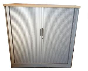 Generic 2 Shelf Wooden Tambour Unit (E2F-AA1-754)