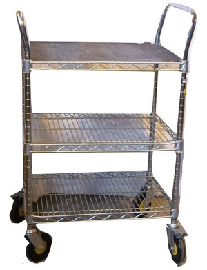 Metro ThreeTier Wire Trolley (08D-40F-9D1)