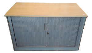 Beech & Grey Tambour Unit (165-144-617)