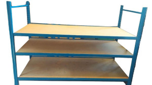 3 Shelf Blue Racking (62F-7C8-3C4)