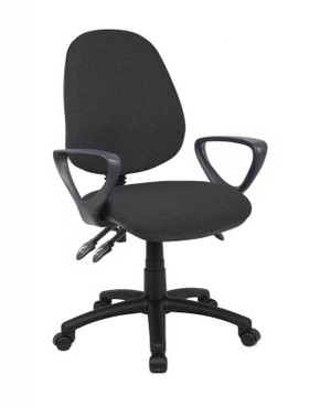 Generic Black Operator Chair with Arms(7CF-F5E-7DD)